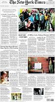 Portada del NY Times del 26 de mayo de 2008