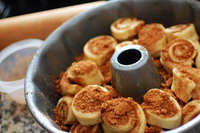 Cinnamon Roll Monkey Bread in a Bundt Pan