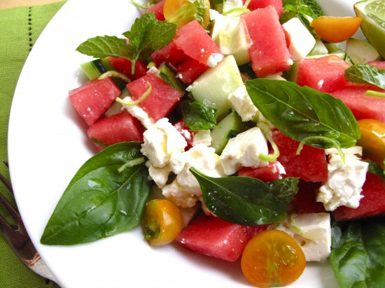 Summer Recipe: Watermelon Feta Salad