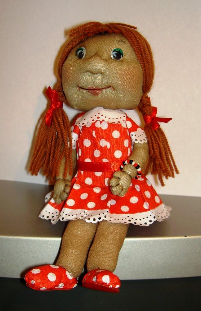 Кукла из чулка мастер класс своими руками домовенок