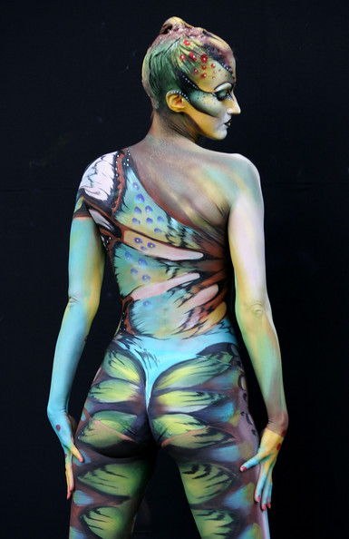 body paint art