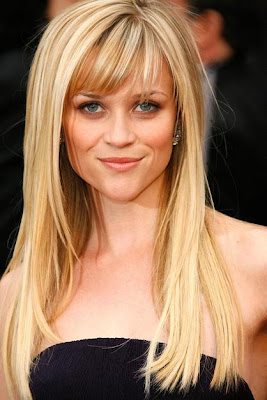 Girls Long Hairstyle With Swept Fringe