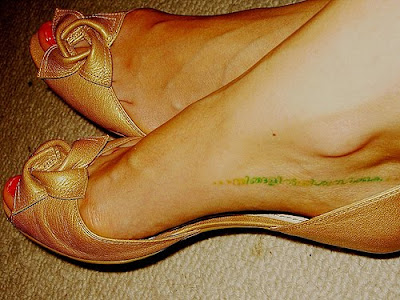 Foot Tattoos Words
