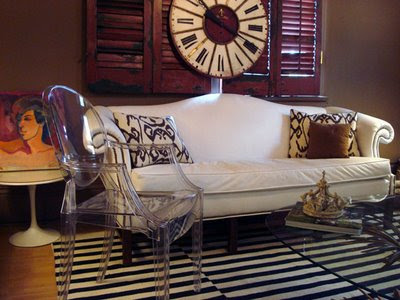 Site Blogspot  Ideas  Decorating Living Room Walls on Of Cote De Texas Had A Solution For Her Shutters  Hang A Wall Clock