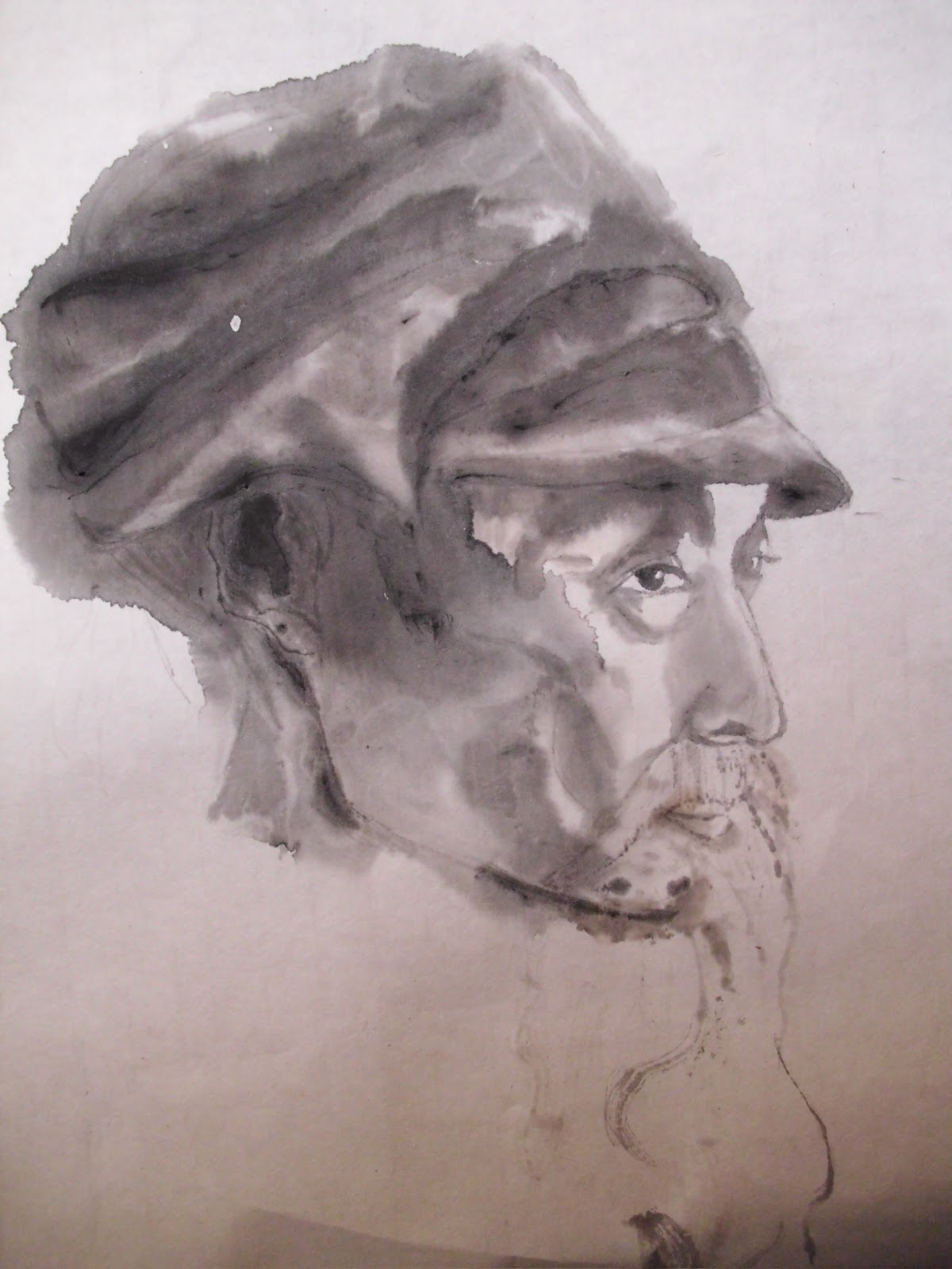 my first ink wash painting was a repainting of oneInk Wash Painting Of People