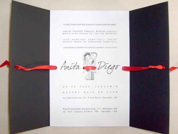 Convite de Casamento Dourado - Modelos e Fotos | Casamento