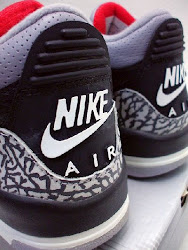 Air Jordan Blk/Cement 3's