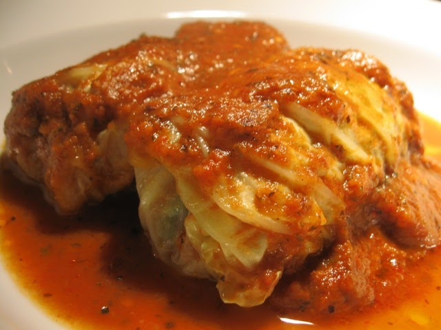 fantastically famished: Portuguese Stuffed Cabbage Rolls