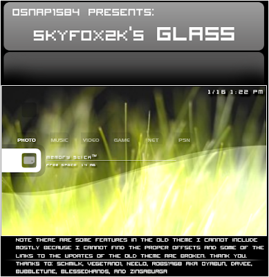 skyfox2ks Glass psp Themes