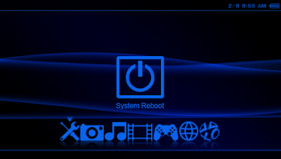 Large Original III Blue Neon psp themes