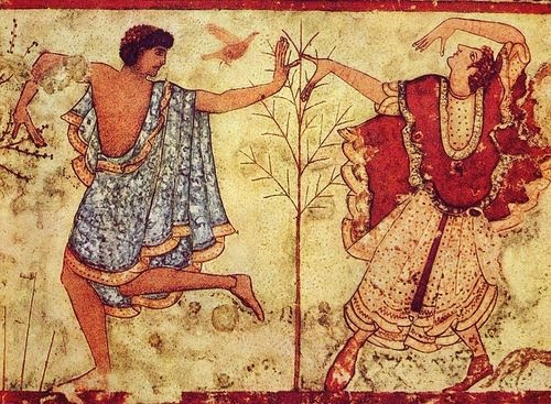The Two Dancers:Tomb of the Triclinium at Tarquinia