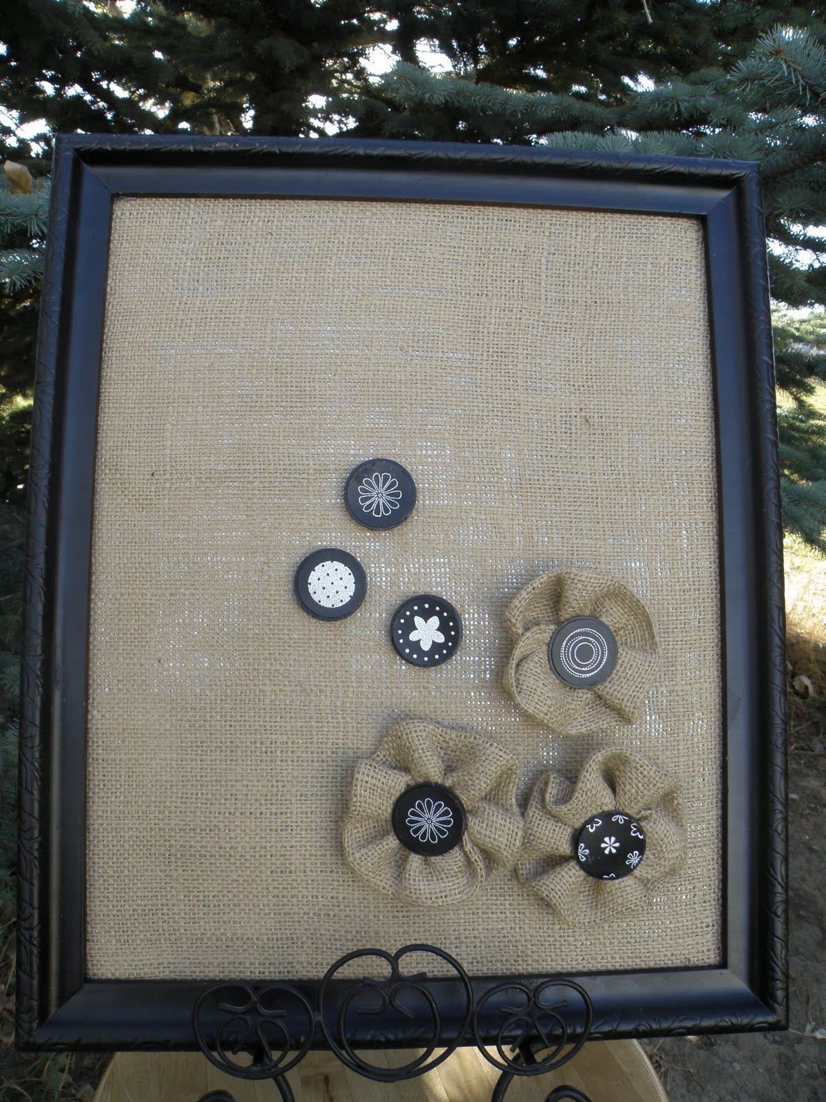 Burlap bulletin boards on pinterest burlap cork boards for How to make a bulletin board without cork