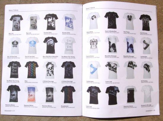 catalog t shirts