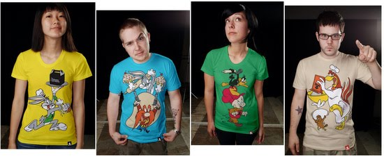 Johnny Cupcakes  Looney Tunes tee t-shirt apparel clothing Bugs Bunny Yoshmite Sam Daffy Duck