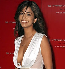 Konnie Huq in the low cut dress