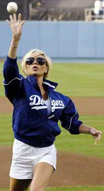 Victoria Beckham at LA Dodgers