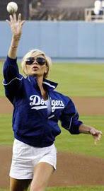 Victoria Beckham at LA Dodgers