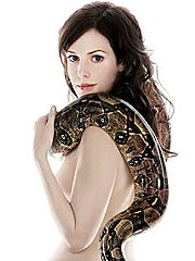 Mary-Louise-Parker with snake