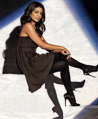 Konnie Huq black stockings and high heels pose