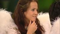 Rachel Rice as an angel