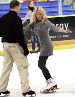 Melinda Messenger ice skating