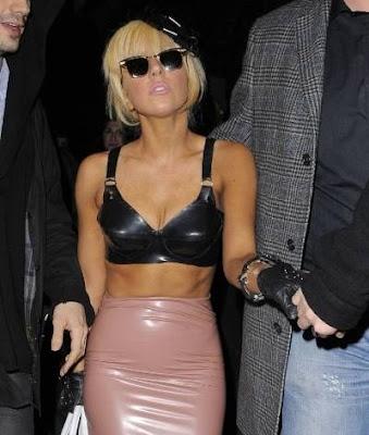 Lady GaGa wearing PVC bra