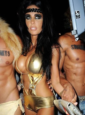 Katie Price cleavage in Ibiza club