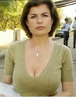 Jane Hill cleavage