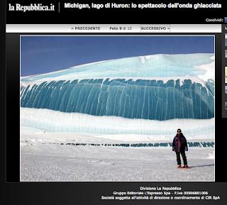 Repubblica e le foto di onde ghiacciate di colpo (UPD 20100125)