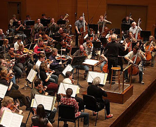the MN Orchestra in Rehersal