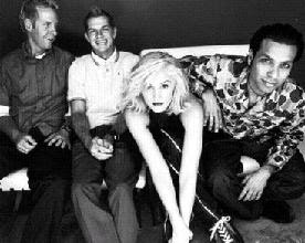 No Doubt photo shoot of whole band