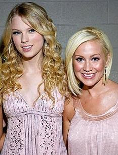 Taylor Swift and Kellie Pickler at an awards show