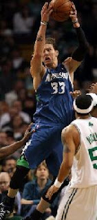 Timberwolves Player #33 taking a Jump Shot