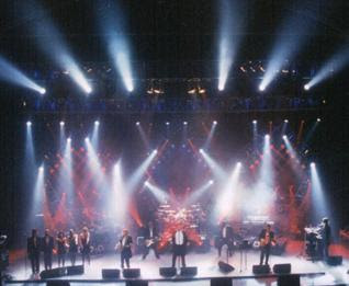 TSO on stage with impressive lighting