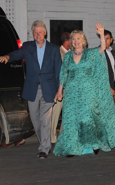 Hilary And Bill Celebrate Their Daughter At Rehearsal Dinner