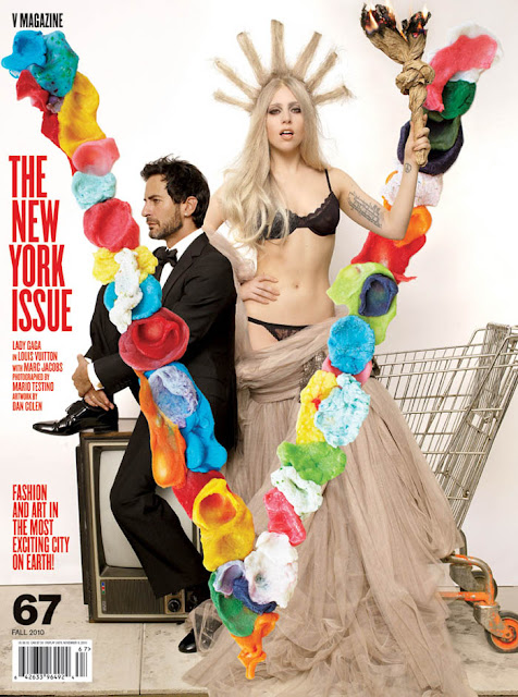 "GaGa And Marc Jacobs Cover ""V"" Magazine!"