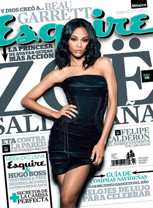 Zoe Saldana For Esquire Mexico Magazine!