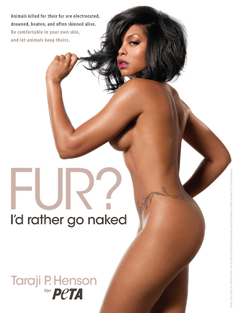Taraji P. Henson Bares ALL (And I Mean ALL) For PETA!!!