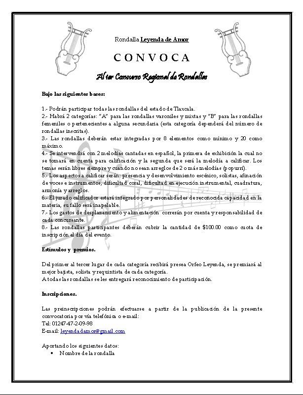 Rondalla Leyenda de amor: Concurso de Rondallas en Huamantla