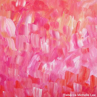 Pink Abstract in Acrylic