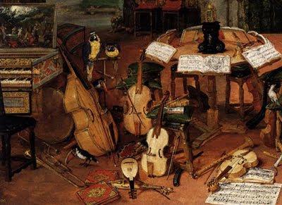 Jan Brueghel de Velours - El oído (detalle)