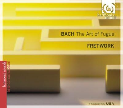 Disco-catálogo con El Arte de l afuga de Bach por Fretwork
