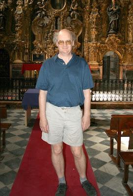 Nicholas Cook en la Capilla Doméstica del antiguo noviciado de los jesuitas de Sevilla (© Barranquero Maya / Diario de Sevilla)