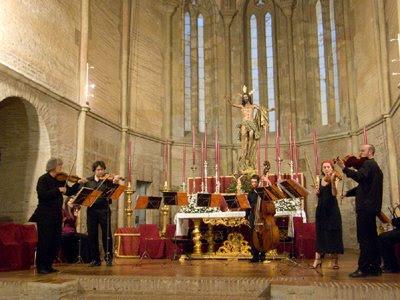 Solistas de la OBS con Sigiswald Kuijken en un Divertimento de Haydn (© Carlos Tarín)