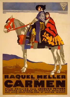 Un cartel de Carmen de Jacques Feyder