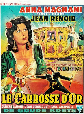 Un cartel de La carroza de oro de Jean Renoir
