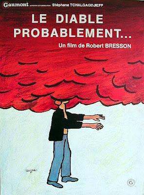 Un cartel francés de El diablo probablemente de Robert Bresson