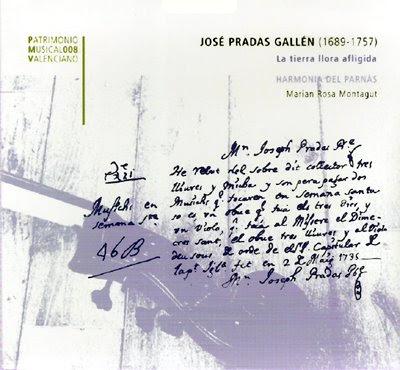 Música de José Pradas Gallén por Marian Rosa Montagut