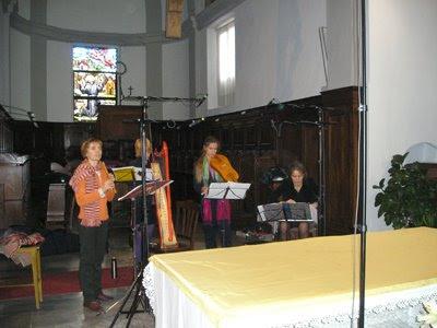 La Reverdie grabando Carmina Burana en el Monasterio del Monte Mesma, 16 de octubre de 2008