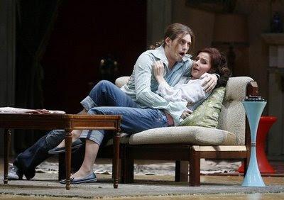 Elena de la Merced y Juan Francisco Gatell en Il burbero di buon cuore de Martín y Soler en el teatro Real